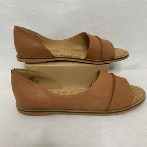 Lucky Brand Fentin 2 Tan Leather Flats